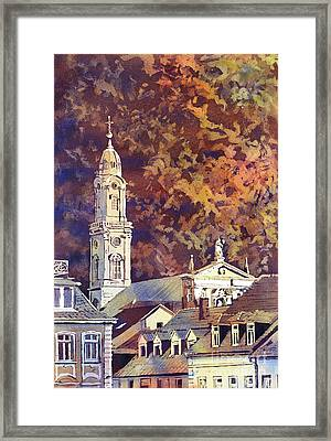 Framed Print featuring the painting Heidelberg Evening by Ryan Fox