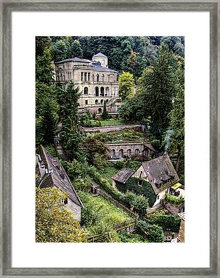 Framed Print featuring the photograph Heidelberg Hillside by Jim Hill