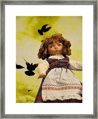 Heidi And The Birds Framed Print by Jan Amiss Photography
