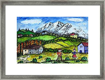 Heidi Country Framed Print by Monica Engeler