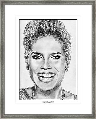 Heidi Klum In 2010 Framed Print by J McCombie