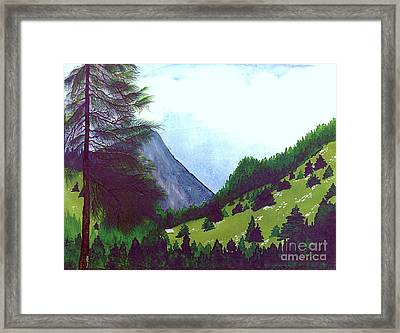 Framed Print featuring the painting Heidi's Place by Patricia Griffin Brett