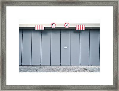 Height And Weight Limit Framed Print by Tom Gowanlock