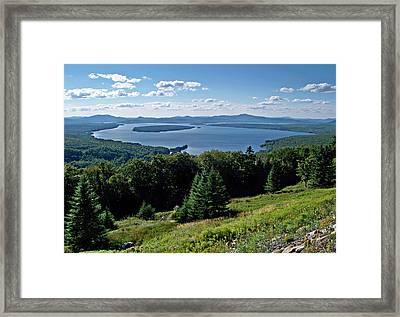 Height Of The Land Overlooking Mooselookmeguntic Lake Framed Print