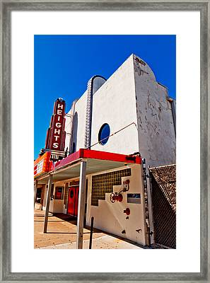 Heights Movie Theater Framed Print