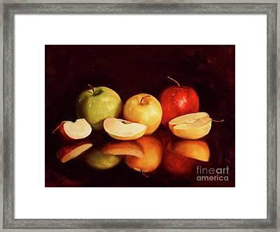 Hein Apples Framed Print