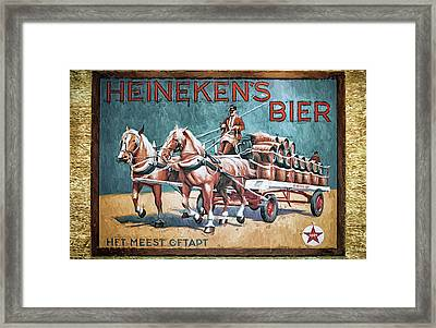 Heineken's Beer The Most Tapped Framed Print by Joan Carroll