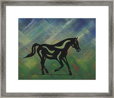 Heinrich - Abstract Horse Framed Print