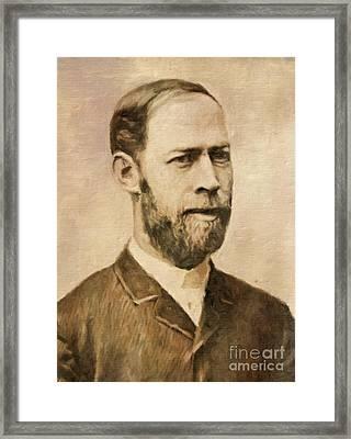 Heinrich Hertz, Physicist By Mary Bassett Framed Print by Mary Bassett
