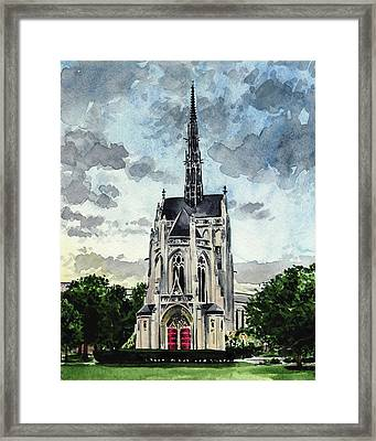 Heinz Chapel University Of Pittsburgh Pennsylvania Architecture Wedding Cathedral Of Learning Pitt Framed Print by Laura Row
