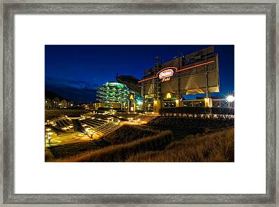 Heinz Field At Night Framed Print by Mark Dottle
