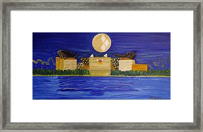 Heinz Field Casting Three Rivers Shadow Framed Print by Michele Moore