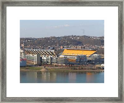 Heinz Field Framed Print by James Guentner