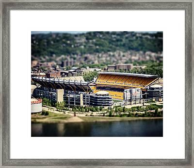 Heinz Field Pittsburgh Steelers Framed Print by Lisa Russo