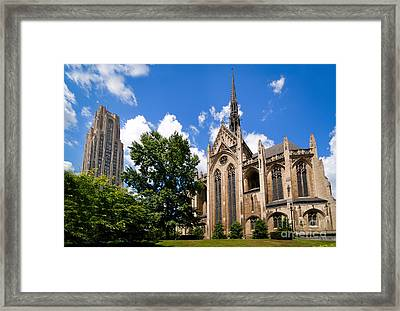 Heinz Memorial Chapel And Cathedral Of Learning Framed Print by Amy Cicconi