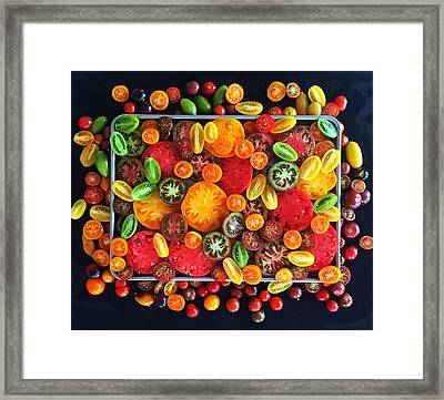 Heirloom Tomato Medley Framed Print