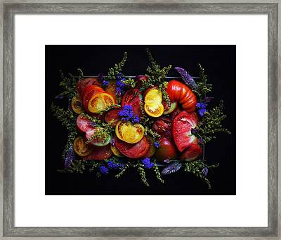 Heirloom Tomato Platter Framed Print