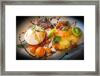 Heirloom Tomato Salad Framed Print