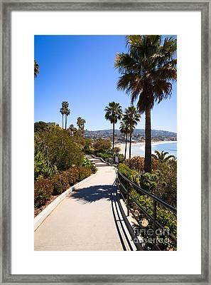 Heisler Park Laguna Beach California Framed Print by Paul Velgos