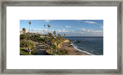 Framed Print featuring the photograph Heisler Park Panoramic by Cliff Wassmann
