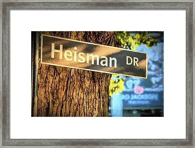 Heisman Drive Bo Jackson Framed Print by JC Findley