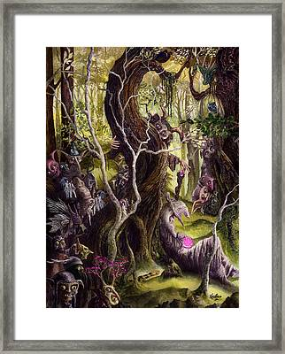 Framed Print featuring the painting Heist Of The Wizard's Staff by Curtiss Shaffer