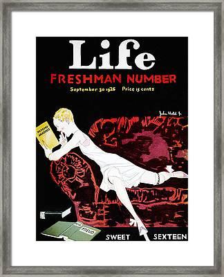 Held Sweet Sexteen, 1926 Framed Print