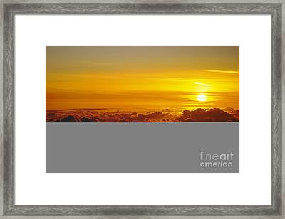 Heleakala Sunrise Framed Print