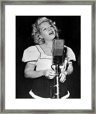 Helen Forrest Singing For The G.i.s Framed Print by Everett