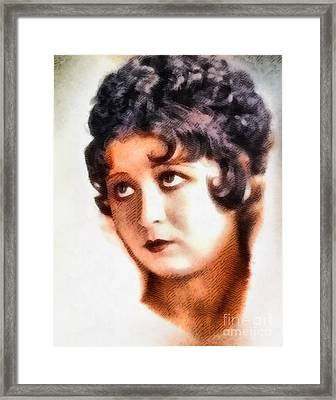 Helen Kane, Betty Boop, Vintage Hollywood Legend Framed Print by John Springfield