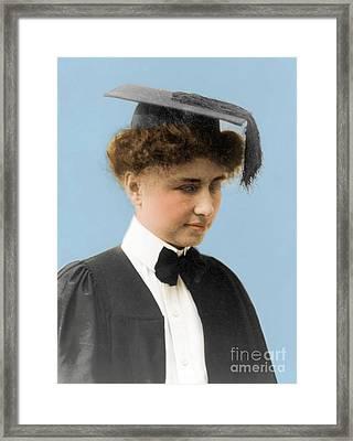 Helen Keller, American Author Framed Print by Science Source
