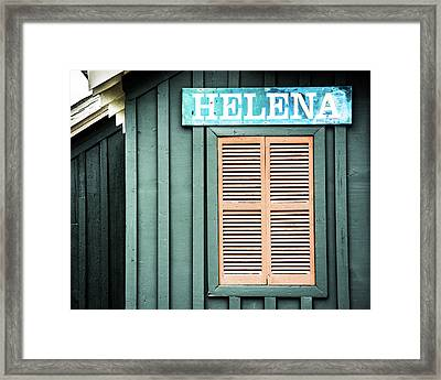 Framed Print featuring the photograph Helena Sign On A Spring Day by Parker Cunningham