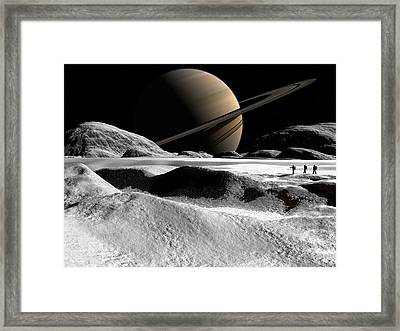 Framed Print featuring the digital art Helene by David Robinson