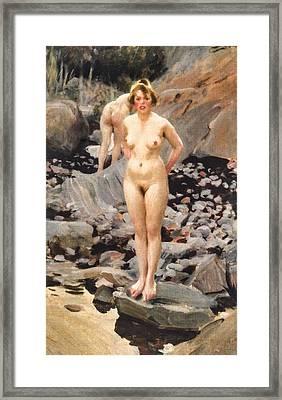 Helga  Framed Print by Anders Zorn