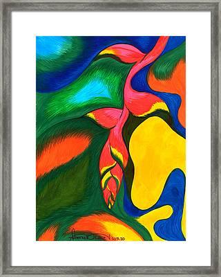 Heliconia Rostrata Framed Print by Fanny Diaz