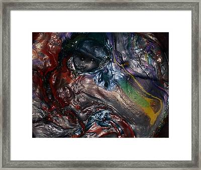 Helicopter Blade Smile Framed Print