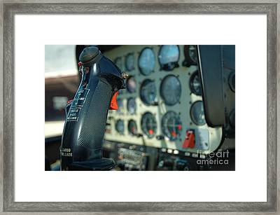 Helicopter Cockpit Framed Print