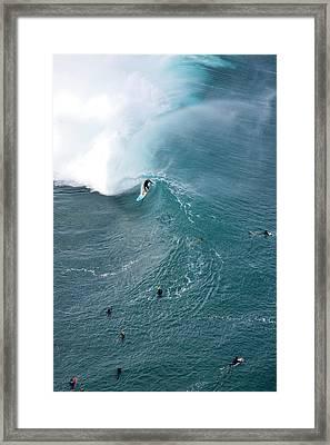 Tubed From Above. Framed Print