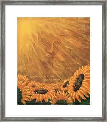 Helios And Clytie Framed Print