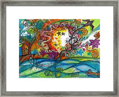 Helios And Ophelia Posterized Framed Print by Genevieve Esson