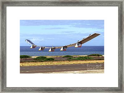 Helios Prototype, Solar-electric Framed Print by Science Source