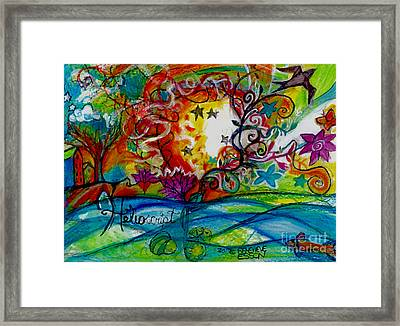 Helios And Ophelia  Framed Print by Genevieve Esson