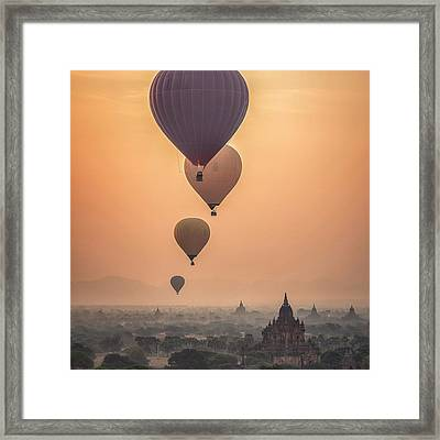 Helium Escape Framed Print by Cco