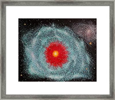Helix Nebula Framed Print by Georgeta  Blanaru