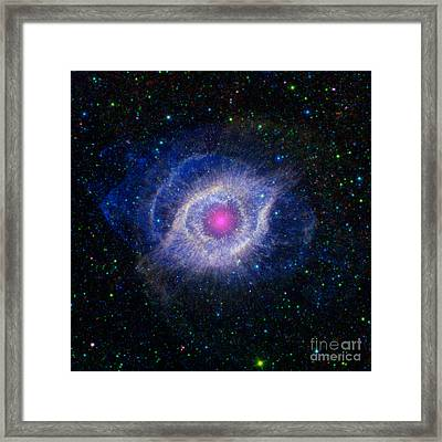 Helix Nebula, Ngc 7293, Caldwell 63 Framed Print by Science Source