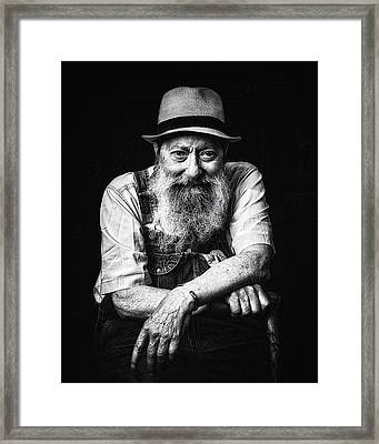 Hell I Was There Framed Print by Ron  McGinnis