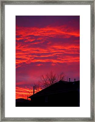 Framed Print featuring the photograph Hell Over Ontario by Valentino Visentini