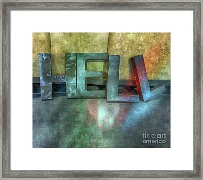 Hell  Framed Print by Steven Digman
