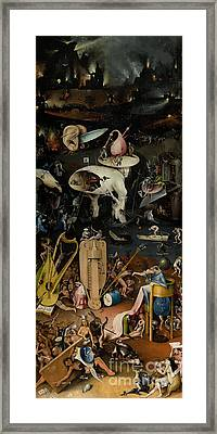 Hell    The Garden Of Earthly Delights Framed Print