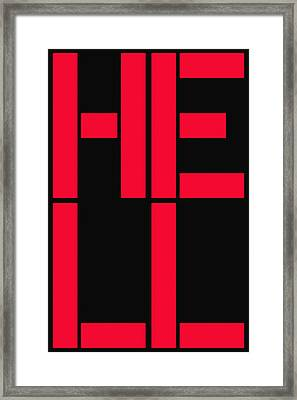 Hell Framed Print by Three Dots